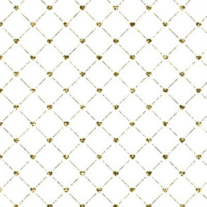 Modern Gold Glitter Hearts Pattern