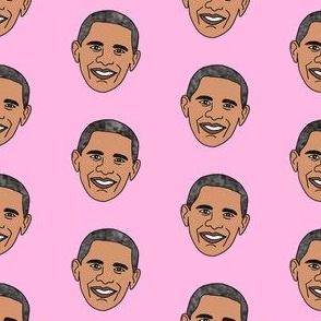 barack obama fabric - obama fabric, american president fabric, usa fabric - pink