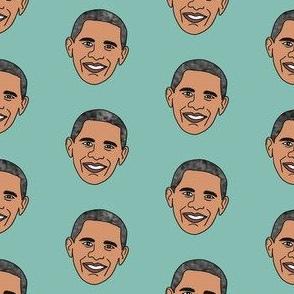 barack obama fabric - obama fabric, american president fabric, usa fabric - blue