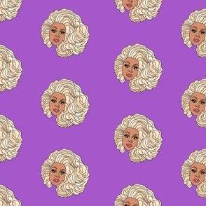 rupaul fabric - drag race, drag, rupaul fabric - purple