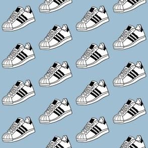 retro sneakers - sneaker fabric, shoes fabric, shoe fabric - light blue
