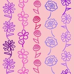 Valentine's Floral Stripe