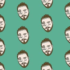 post malone - rap music musician fabric artist - green