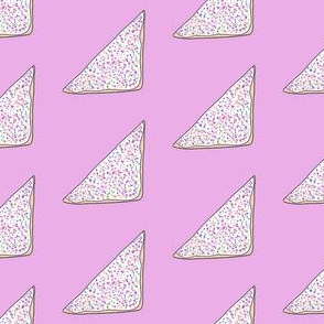 fairy bread fabric - bread, butter, sprinkles, party food, hundreds and thousands, australian food - purple