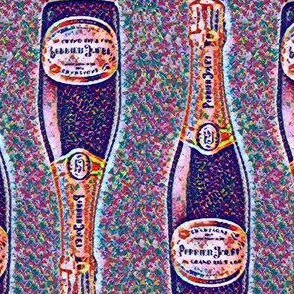 champagne bottle confetti dots pattern basic repeat