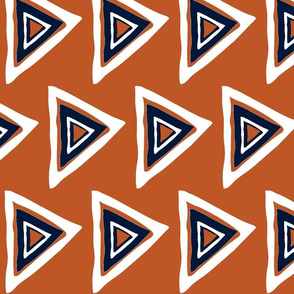 rust-navy-white triangle