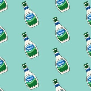 ranch dressing fabric - ranch dressing, food, ranch sauce, food fabric -  mint