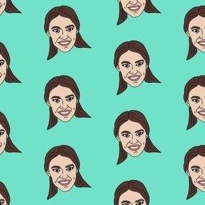 aoc - alexandria ocasio-cortez, democrat, politican, congresswoman, american, usa - mint