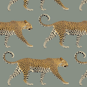 Leopards in cool grey (large)