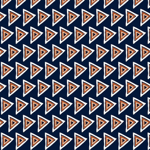 navy-rust-white triangle