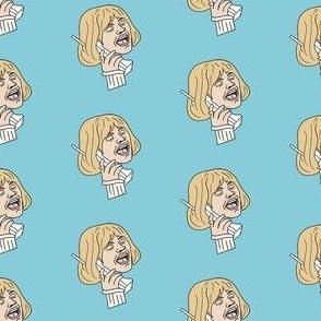 casey becker - scream movie, horror movie, 90s, retro, cult movie, - blue