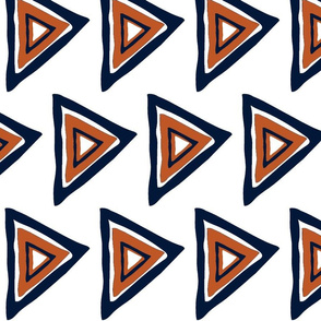 white-navy-rust triangle