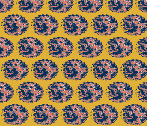 Oval Plates Coral Limited Palette  fabric by clotilda_warhammer on Spoonflower - custom fabric