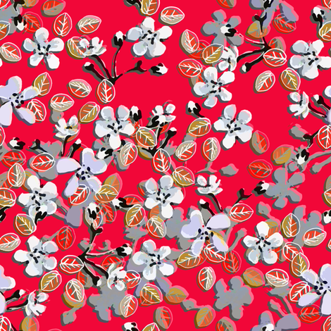 Sweetheart floral fabric by joanmclemore on Spoonflower - custom fabric