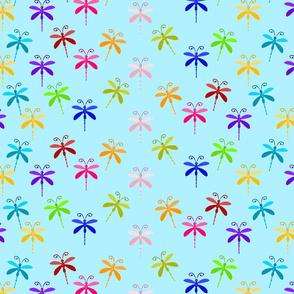 Blue Dragonflies