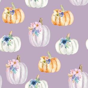 Floral Pumpkins // Lavender