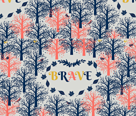 BRAVE - No 1-Large Scale fabric by winterblossom on Spoonflower - custom fabric