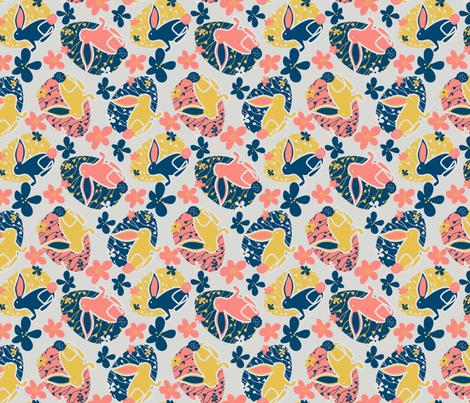 2019 Bunny Eggs fabric by thegreenpoodle on Spoonflower - custom fabric
