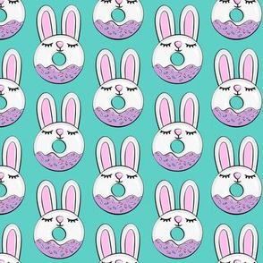 bunny donuts with sprinkles - easter donuts teal LAD19