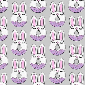 bunny donuts with sprinkles - easter donuts grey LAD19
