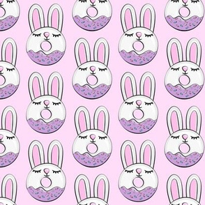 bunny donuts with sprinkles - easter donuts pink LAD19