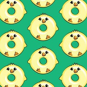 chick donuts - easter donuts green LAD19