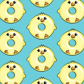 chick donuts - easter donuts blue LAD19