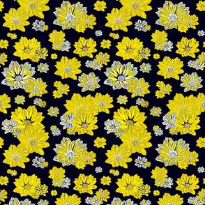 Black and Gold Fleur