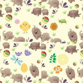 elephant pattern-ed