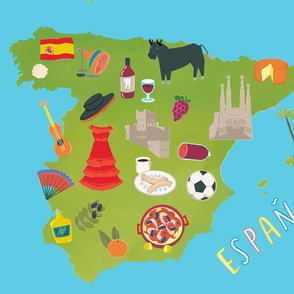 Illustrated Map of Spain