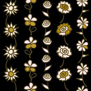 Floral Stripe - Cleopatra