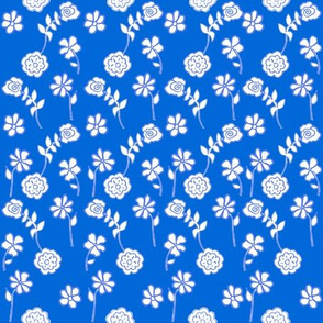 Floral Waves - French Blue