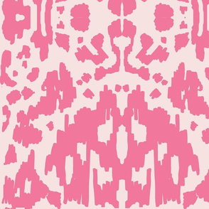 Cow Ikat Hot Pink