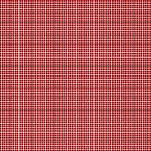 Plaid 1 White On Cherry Red 1:6