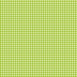 Plaid 6 Apple Green On White 1:6