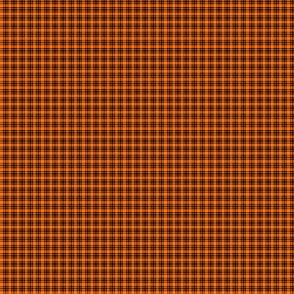 Plaid 6 Pumpkin Orange On Black 1:6