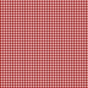 Plaid 6 Cherry Red On White 1:6