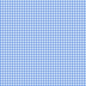 Plaid 6 Cornflower Blue On White 1:6