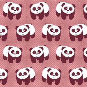 Pandas on pink