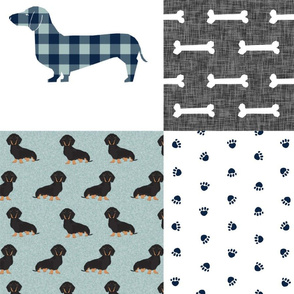 Dachshund quilt - EXTRA LARGE