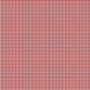 Houndstooth Cherry Red And White 1:6