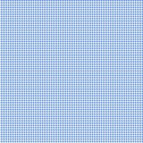 Houndstooth Cornflower Blue And White 1:6