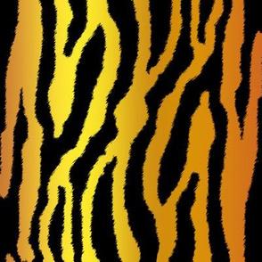 Tiger Stripes on Golden Brown Vertical Gradient