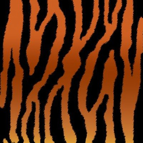 Tiger Stripes on Golden Brown Horizontal Gradient