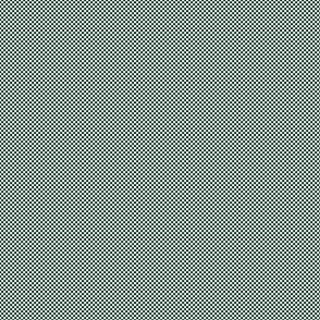Checkerboard Small Phthalo Green And White