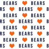 bears sports fabric, - blue and orange bears - bears fabric, sports team fabric, chicago fabric