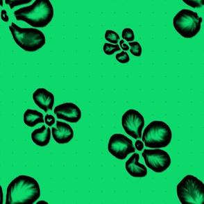 Soft Frangipani Lace on Emerald   Backlit Brights