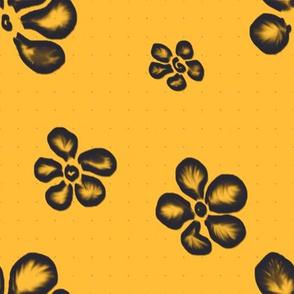Dark Frangipani Lace on Gold | Stock Pot