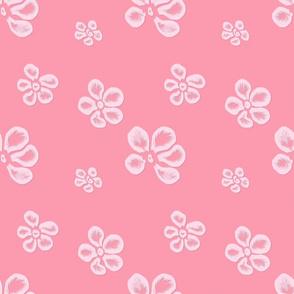 Soft Frangipani Lace   Pink Morning