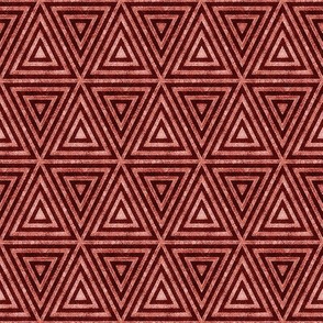 Coral Orange Distressed Triangles
